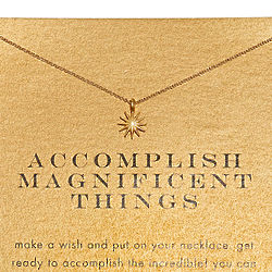 Accomplish Magnificent Things Gold-Dipped Necklace