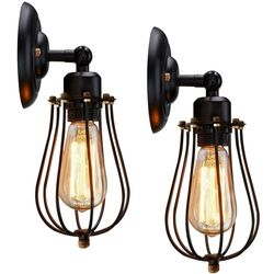 2 Wire Cage Wall Sconces