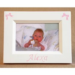 Personalized Hand-Painted Mini Bows Picture Frame
