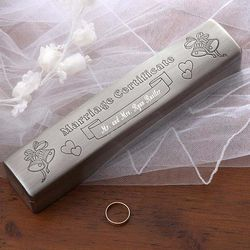 Our Marriage Certificate Engraved Keepsake Box