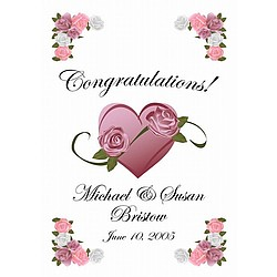 Congratulations Personalized Wedding Flag