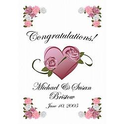 Congratulations Personalized Wedding Flag