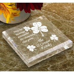 Personalized Irish Blessing Keepsake & Paperweight