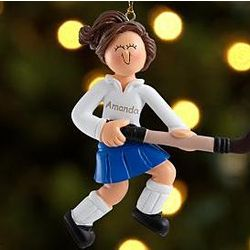 Personalized Field Hockey Ornament