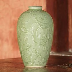 Celadon Wildflower Vase