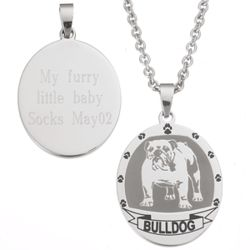 Bulldog Stainless Steel Dog Breed Pendant