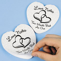 Two Hearts Wedding Notepad Set