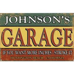 Personalized Funny Garage Sign
