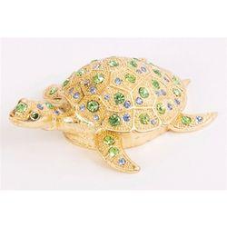 Bejeweled Sea Turtle Trinket Box