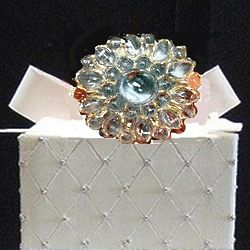 Incredible Edible Sugar Diamond Brooch with Gold Edge