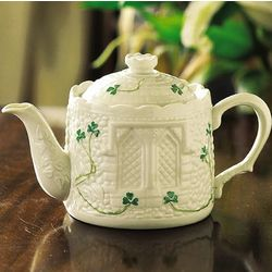 Irish Pottery Castle Teapot