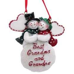 Best Grandma and Grandpa Christmas Ornament