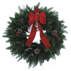 Season's Greetings Fresh Wreath