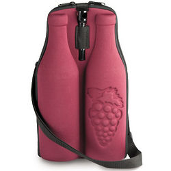 Insulated Red Double Wine Tote