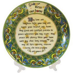 God Bless Our Home Keepsake Plate