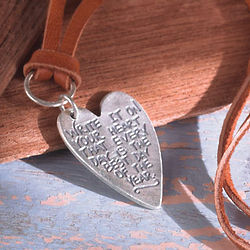 Emerson Quote Best Day Heart Necklace