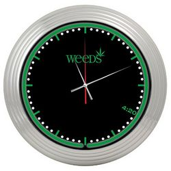 Weeds Neon Wall Clock