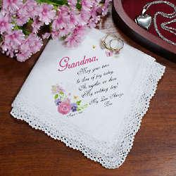 Tears of Joy Personalized Wedding Handkerchief
