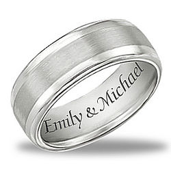 Men's Personalized Our Forever Love Ring