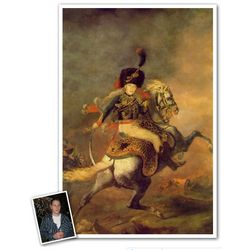 Charging Chasseur Custom Photo Art Print