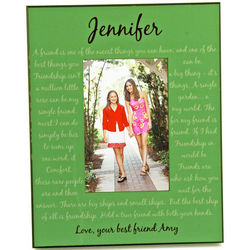 Personalized Green Best Friend Picture Frame