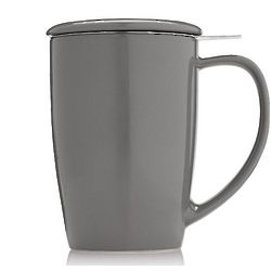 Gray Ceramic Infuser Mug