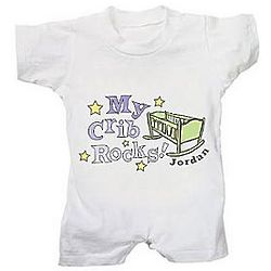 Personalized My Crib Rocks Romper