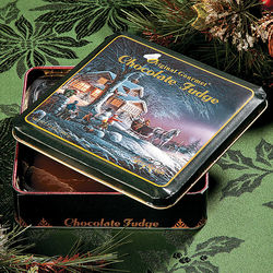 Chocolate Fudge Christmas Tin