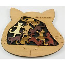 Alles Fur Die Katz Handcrafted Wood Puzzle