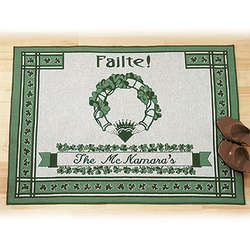 Personalized Irish Family Welcome Mat