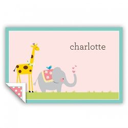 Personalized Animal Parade Placemat
