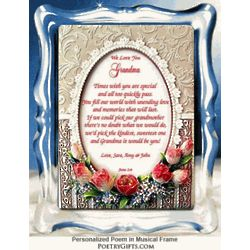 Grandmother Personalized Musical Frame