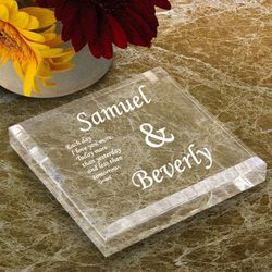 Personalized You & I Keepsake & Paperweight