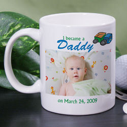 New Father Personalized Photo Coffee Mug