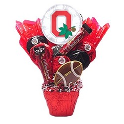 Ohio State Cookie Pot Bouquet