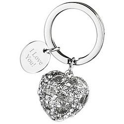 Crown Heart Crystal Rhinestone Key Holder