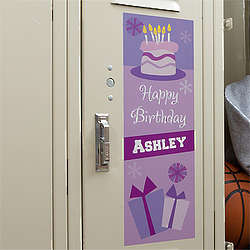 Birthday Locker Decorations Print Image Inspiration of Cake and