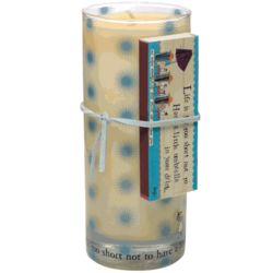 Life is Too Short Juice Glass Candle