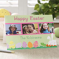 Happy Easter Personalized Photo Easter Cards
