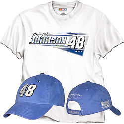 Jimmie Johnson NASCAR Cap and T-Shirt