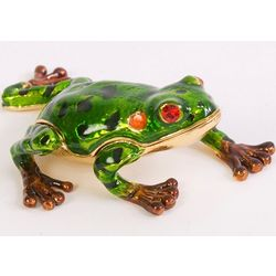 Pond Frog Trinket Box