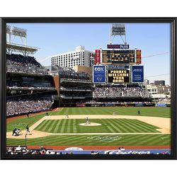 San Diego Padres Personalized Scoreboard 11x14 Framed Canvas