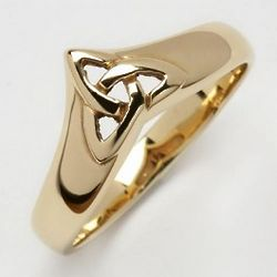 10 Carat Gold Ladies Irish Trinity Wishbone Ring