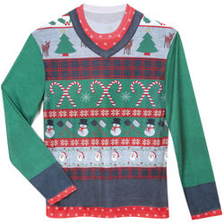 Faux Real Ugly Christmas Sweater Tee
