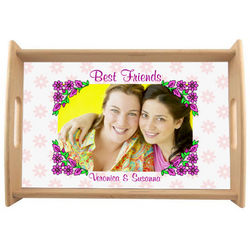 Best Friends Floral Custom Photo Serving Tray