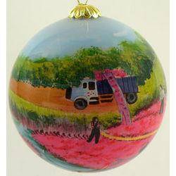 Cranberry Harvest Handpainted Ornament