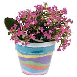 Kid's Sand Art Kit Flowerpots