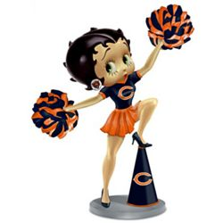 Three Boop-Oop-a-Doops Chicago Bears Ringing Bell Figurine