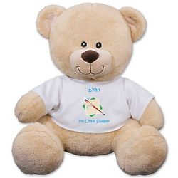 Personalized Little Slugger Teddy Bear