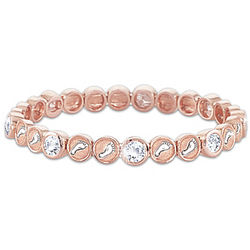 Footprints in the Sand Rose Gold Stretch Bracelet with Crystals